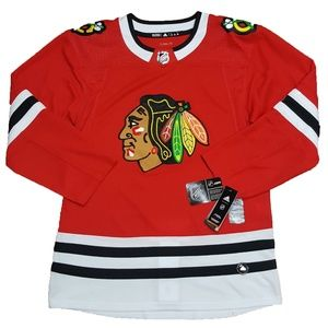 adidas Chicago Blackhawks Authentic Jersey Red 46